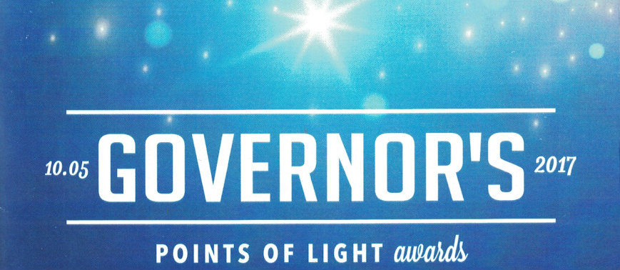 Congratulations Charlene Falkner 2017 Govenor's Point of Light Award Honoree