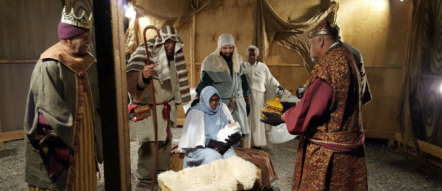 Zion UMC at the Glittering Lights Living Nativity