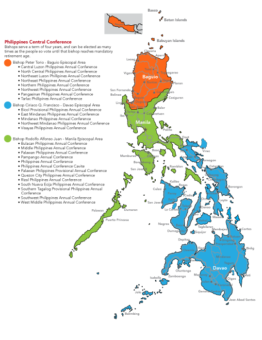 Rizal Philippines Map.Philippines Central Conferences Map Revised Desert Southwest