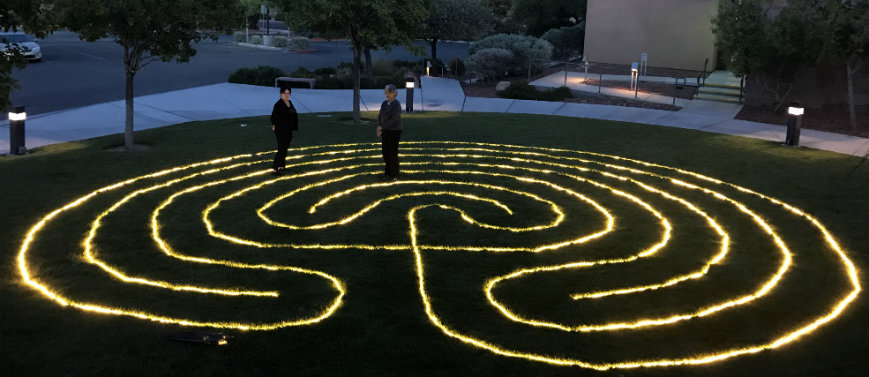Outdoor Lighted Prayer Labyrinth Opportunities