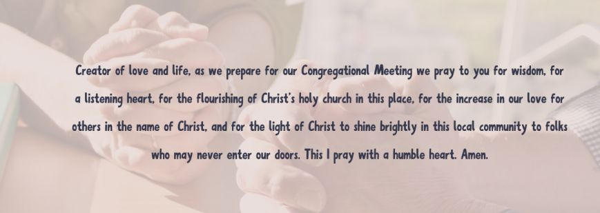 Congregational Meeting – Time with your District Superintendent