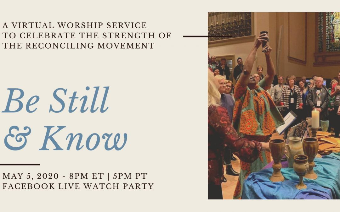Join us for: Be Still and Know